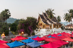 Haw Pha Bang Buddha temple of the National museum complex Stock Photo