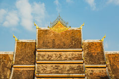 Haw Pha Bang roof Stock Photo