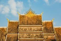 Haw Pha Bang roof Stock Photo