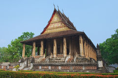 Haw Phra Kaew świątynia w Vientiane, Laos obrazy royalty free