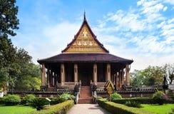 Haw Phra Kaew, No.1 przyciąganie w Vientiane, Laos. obraz stock