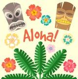 Hawaï Aloha Poster Stock Fotografie