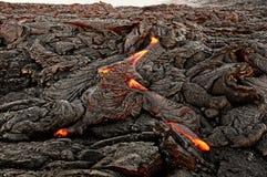 Hawaï - la lave émerge d'une colonne de la terre photo libre de droits
