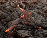Hawaï - la lave émerge d'une colonne de la terre images stock