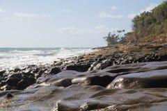 Hawaï Lava Rock Beach Image stock