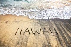 Hawaï op het zand Stock Fotografie