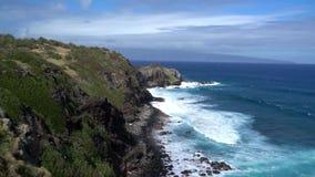 Hawaï overziet van Oceaan stock videobeelden