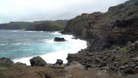 Hawaï overziet van Oceaan stock footage