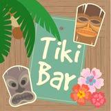 Hawaï Tiki Beach Bar Poster Stock Fotografie