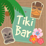 Hawaï Tiki Beach Bar Poster illustration stock
