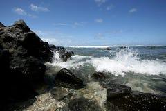 Hawaï van Peacefull strand Stock Foto's