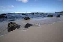 Hawaï van Peacefull strand Stock Afbeeldingen