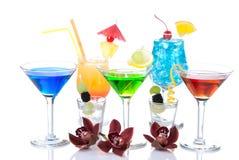 Hawaïen de cocktails, Martini, tequila, margarita Photos libres de droits