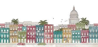 Hawański, Kuba - bezszwowy sztandar ilustracji