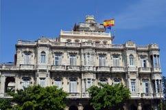 Hawański, Kuba: Hiszpańska ambasada Obraz Stock