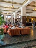 HAWAŃSKI, KUBA, KWIECIEŃ - 2, 2012: Wnętrze Hotelowi Ambos Mundos Zdjęcie Royalty Free