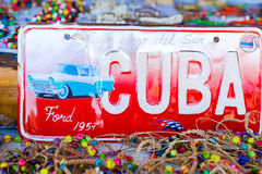 HAWAŃSKI, KUBA, KWIECIEŃ - 14, 2017: Zbliżenie klasyczna rocznik liczba w rynku w Stary Hawańskim, Kuba T Obraz Royalty Free