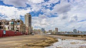 Hawański, Kuba, Luty - 10, 2016: Hawański Malecon Obrazy Royalty Free
