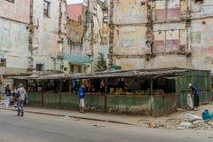 Hawański, Kuba, Luty - 10, 2016: Sklep spożywczy w Hawańskim Obraz Stock