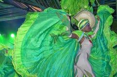 HAWAŃSKI, KUBA, STYCZEŃ - 04, 2018: Tancerze wykonuje w Tropicana Zdjęcie Stock