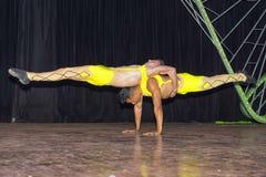 HAWAŃSKI, KUBA, STYCZEŃ - 04, 2018: Tancerze wykonuje w Tropicana Fotografia Stock
