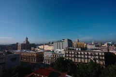 Hawański miasto w Kuba Obrazy Royalty Free