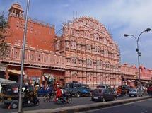 hawa印度mahal的斋浦尔 免版税库存图片