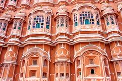 Hawa玛哈尔宫殿在斋浦尔,拉贾斯坦 图库摄影