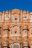 Hawa玛哈尔宫殿在斋浦尔,拉贾斯坦 免版税图库摄影