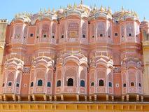 Hawa玛哈尔宫殿,斋浦尔,拉贾斯坦,印度后侧方  库存照片