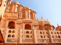 Hawa玛哈尔宫殿,斋浦尔,拉贾斯坦,印度 免版税图库摄影