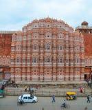 Hawa玛哈尔风宫殿在斋浦尔,印度 免版税库存图片
