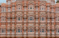 Hawa玛哈尔风宫殿在斋浦尔,印度 免版税图库摄影