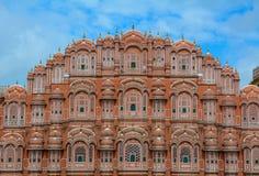 Hawa玛哈尔风宫殿在斋浦尔,印度 图库摄影