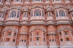Hawa玛哈尔,风宫殿在斋浦尔,印度 免版税库存照片