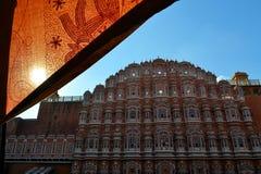 Hawa玛哈尔,风宫殿,斋浦尔,印度。 免版税图库摄影
