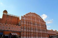 Hawa玛哈尔,风宫殿,斋浦尔,印度。 免版税库存图片