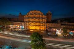 Hawa玛哈尔,风宫殿,斋浦尔,印度 免版税库存照片