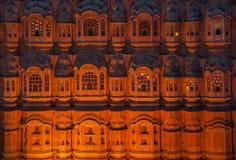 Hawa玛哈尔,风宫殿,斋浦尔,印度 图库摄影