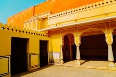 Hawa玛哈尔,风的宫殿在斋浦尔,印度 免版税库存图片