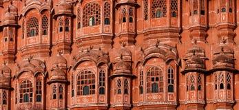 Hawa玛哈尔-风宫殿。斋浦尔,印度 免版税库存图片