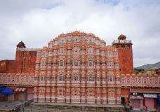 Hawa玛哈尔(风宫殿)在斋浦尔,印度 免版税库存照片