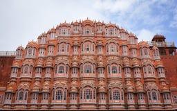 Hawa玛哈尔(风宫殿)在斋浦尔,印度 免版税库存图片