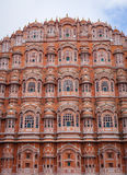 Hawa玛哈尔(风宫殿)在斋浦尔,印度 库存图片