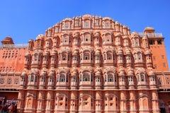 Hawa玛哈尔-风的宫殿在斋浦尔,拉贾斯坦,印度 免版税库存图片