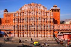 Hawa玛哈尔-风的宫殿在斋浦尔,拉贾斯坦,印度 免版税库存照片