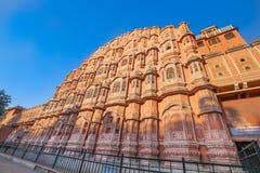 Hawa Ma Hal Winddy slott, Rajasthan, Indien Arkivbild