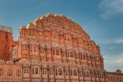 Hawa Mahal,风宫殿,斋浦尔,印度 免版税库存图片
