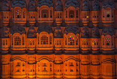 Hawa Mahal, παλάτι των ανέμων, Jaipur, Ινδία Στοκ Φωτογραφία