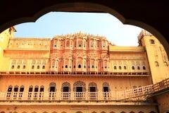 Hawa Mahal - дворец ветра в Джайпуре, Раджастхане, Индии Стоковое фото RF
